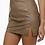 Thumbnail: Leather split mini skirt