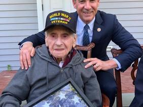 Suozzi Meets D-Day Veterans