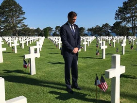 Trump, Suozzi, Zeldin  - and LV Locals - in Normandy for D-Day