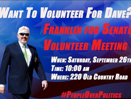 Volunteer for Dave!