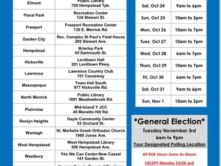 Vote Early in Nassau County