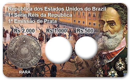 Display Expositor com Case para Moedas Série Réis - 1889 (Prata)