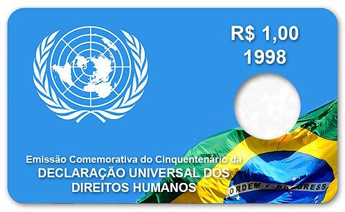 Display Expositor com Case para Moeda Real - Direitos Humanos