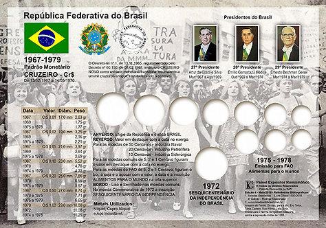 Painel Expositor para Moedas do Cruzeiro