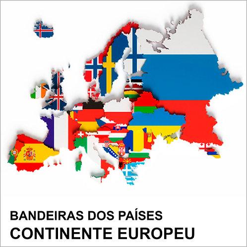 Kit Bandeiras Adesivas da Europa (57 Países) - Completo