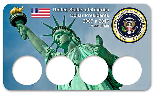 Display Expositor para Moedas Dollar Presidents