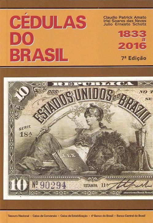 Livro Cédulas do Brasil - 1833 até 2016