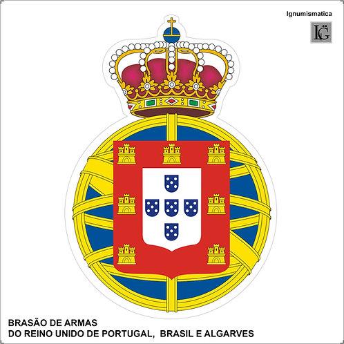 Adesivo Brasão do Reino Unido de Portugal, Brasil e Algarves