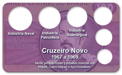 Display Expositor com Case para Moedas Cruzeiro Novo - 1967