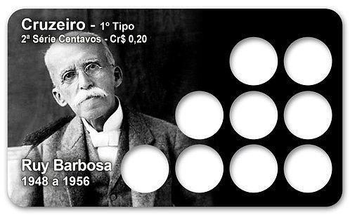 Display Expositor para Moedas Cruzeiro - Rui Barbosa