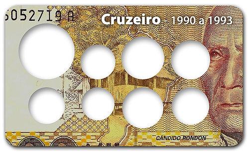 Display Expositor com Case para Moeda Cruzeiro - 1990 a 1993