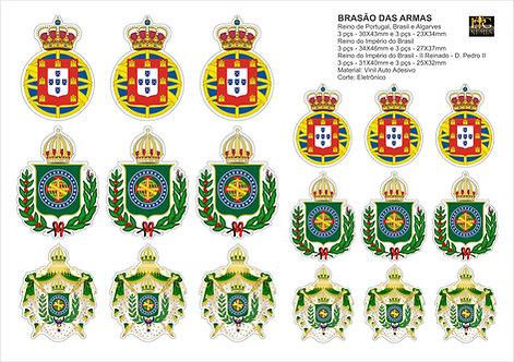 Cartela Adesiva com Brasões do Império do Brasil