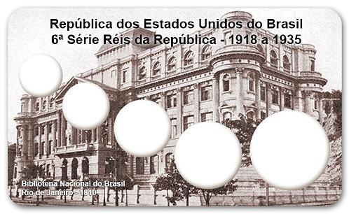 Display Expositor com Case para Moedas Série Réis - 1918