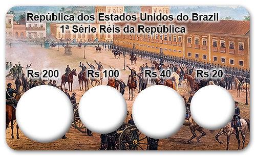 Display Expositor com Case para Moedas Série Réis - 1889 (Bronze e Cupro-Níquel)