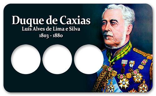 Display Expositor com Case para Moedas Réis B. Ilustres - Caxias 1936/37/38