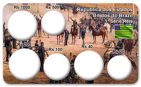 Display Expositor com Case para Moedas Série Réis - 1889 (Br + Cp-Nq + Prata)