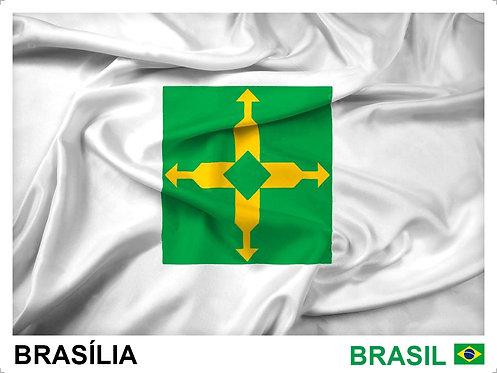 Kit Bandeiras Adesivas das 27 Capitais Brasileiras