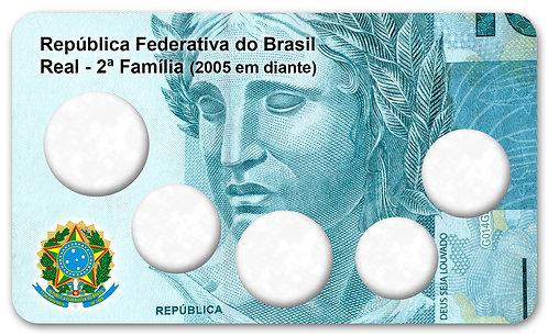 Display Expositor com Case para Moedas Série Real - 2ª Família 2005 em diante