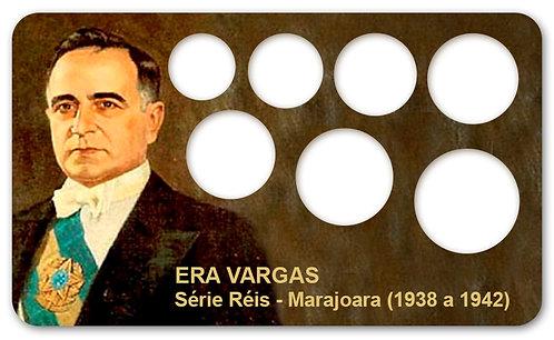 Display Expositor com Case para Moedas Réis Série Marajoara - 1938 a 1942