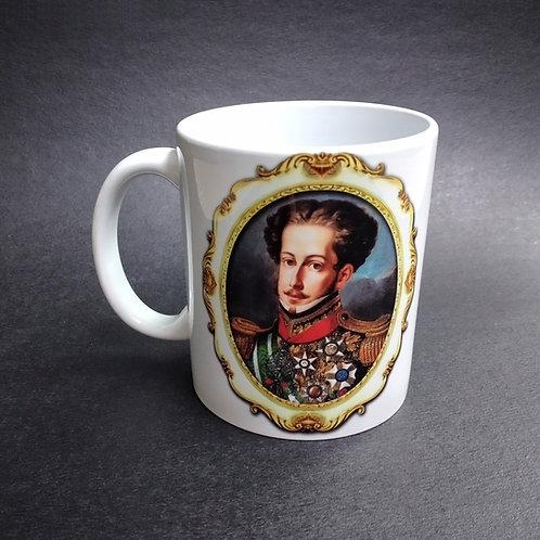 Caneca Cerâmica Decorada Dom Pedro I