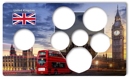 Display Expositor com Case para Moedas da Série Escudo Real Britânico