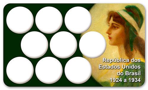 Display Expositor com Case para Moedas Série Réis - 1924