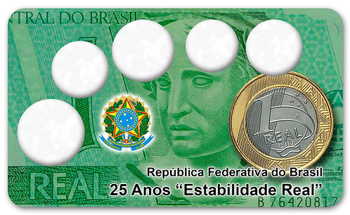 Display Expositor para Moedas 25 Anos do Real - 2ª Familia