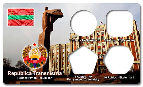 Display Expositor com Case para Moedas da Transnístria