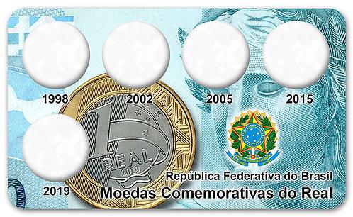 Display Expositor para Moedas Comemorativas do Real - 2ª Familia