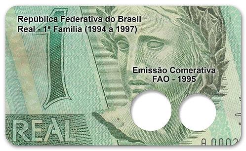 Display Expositor com Case para Moedas Série Real - 1ª Família Casal FAO