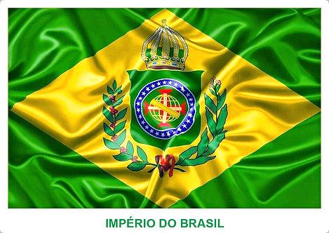 Bandeiras Adesivas do Brasil - Império/República
