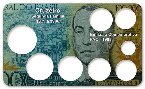 Display Expositor com Case para Moedas Cruzeiro - 1979 e FAO