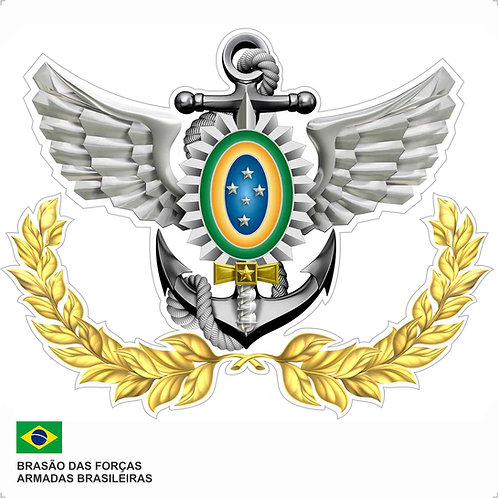 Adesivo do Brasão das Forças Armadas Brasileiras