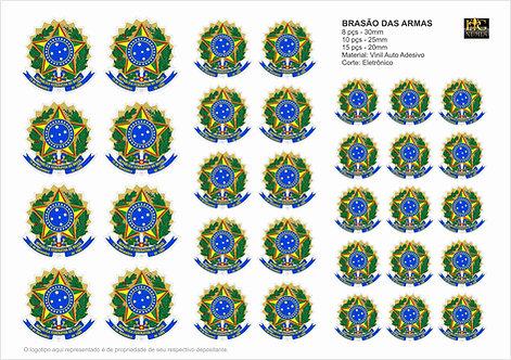 Cartela Adesiva Brasão das Armas do Brasil