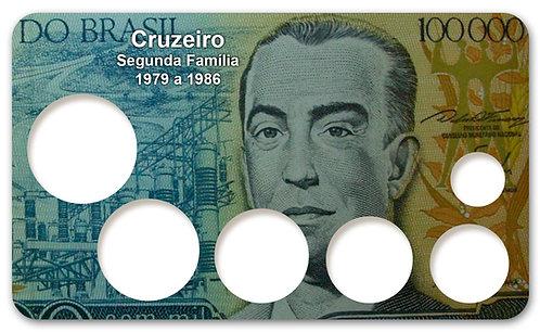Display Expositor com Case para Moedas Cruzeiro - 1979 a 1986