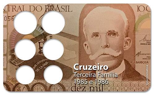 Display Expositor com Case para Moedas Cruzeiro - 1985e 1986