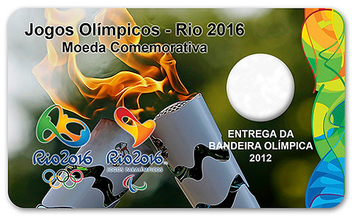 Display Expositor com Case para Moeda Real Bandeira Olímpica