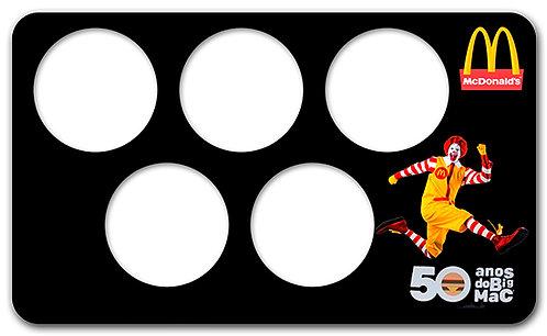Display Expositor com Case para Moedas da Série 50 Anos do Big-Mac