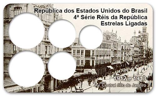 Display Expositor com Case para Moedas Série Réis - 1912
