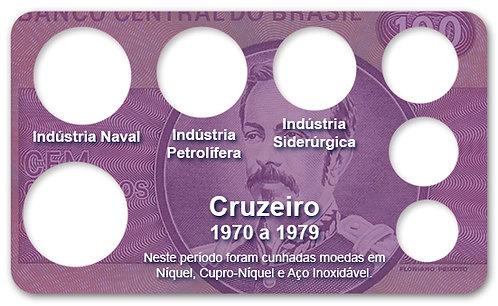 Display Expositor com Case para Moedas Cruzeiro - 1970