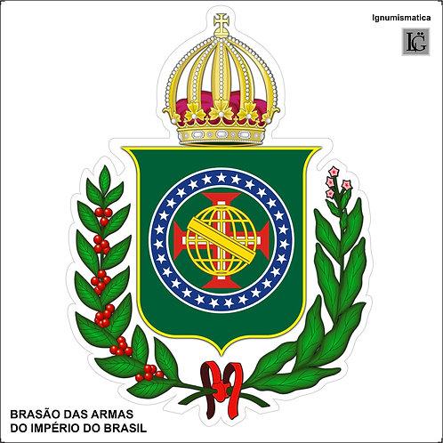 Kit 4 Brasões Adesivos Império e República