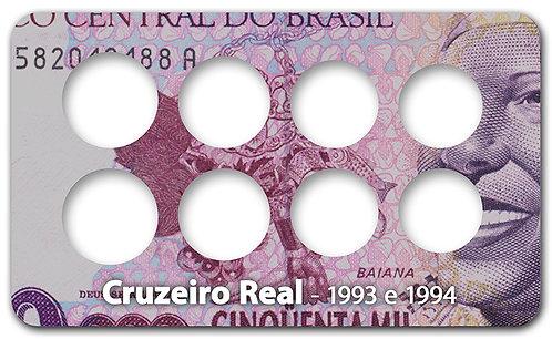 Display Expositor com Case para Moedas Série Cruzeiro Real - 1993 e 1994