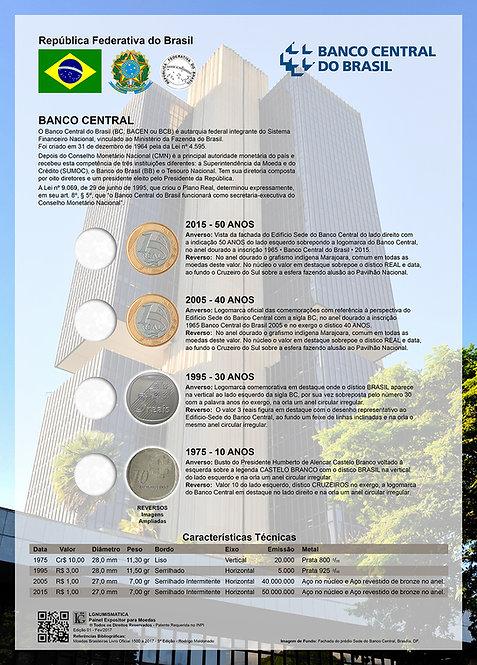 Painel Expositor para Moedas Comemorativas do Banco do Brasil