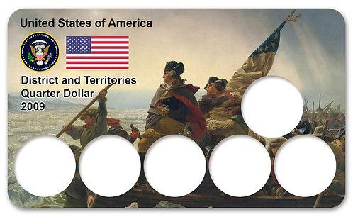 Display Expositor para Moedas Quarter Dollar Districts & Territories