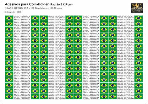 Bandeiras Adesivas para Coin-Holder - Brasil República