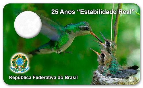 Display Expositor para Moedas 25 Anos do Real - Real Beija Flor