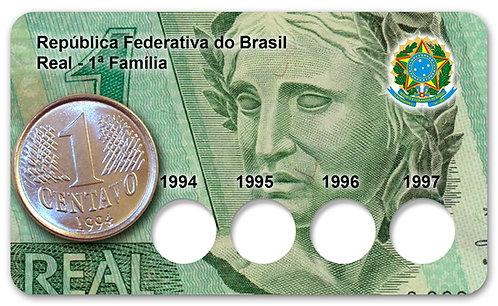 Display Expositor para Série de Centavos - 1ª Familia do Real