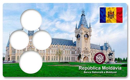 Display Expositor com Case para Moedas da Moldávia