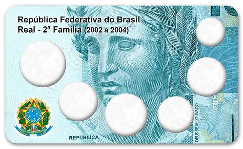 Display Expositor com Case para Moedas Série Real - 2ª Família 2002 a 2004