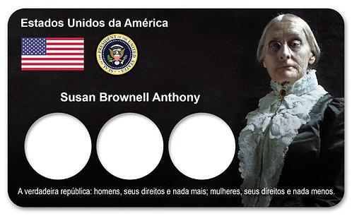 Display Expositor com Case para Moedas Dollar Susan B. Anthony - 1979 e 1980